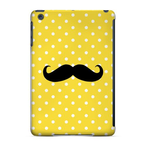 Geeks Designer Line (GDL) Slim Hard Case for Apple iPad Mini - Stache on Yellow