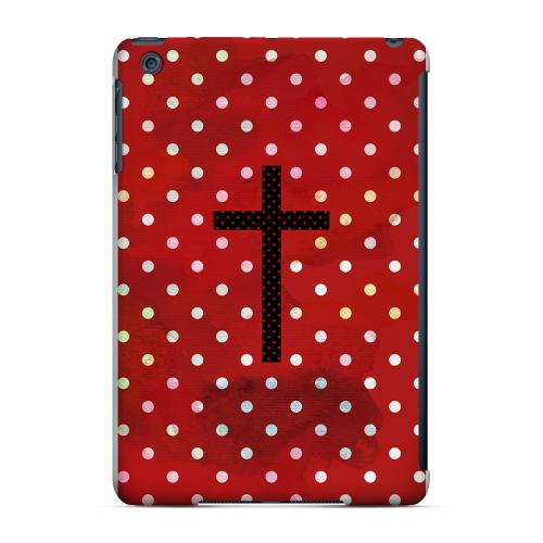 Geeks Designer Line (GDL) Slim Hard Case for Apple iPad Mini - Stained Cross on Red