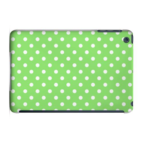 Geeks Designer Line (GDL) Slim Hard Case for Apple iPad Mini - White Dots on Green