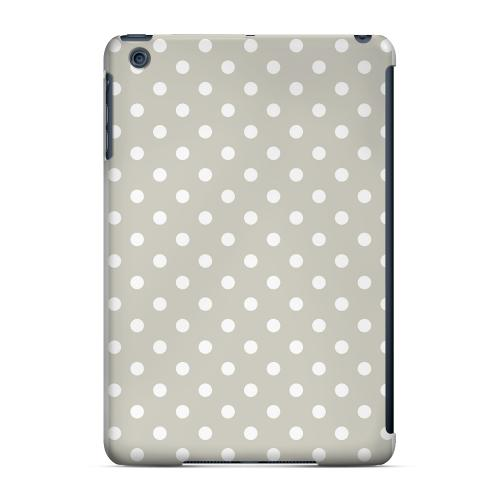 Geeks Designer Line (GDL) Slim Hard Case for Apple iPad Mini - White Dots on Khaki