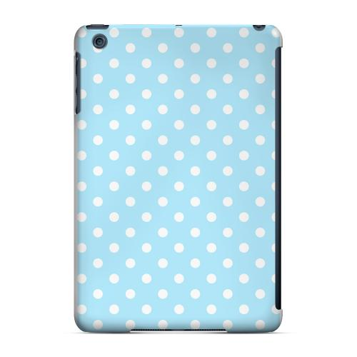 Geeks Designer Line (GDL) Slim Hard Case for Apple iPad Mini - White Dots on Sky Blue
