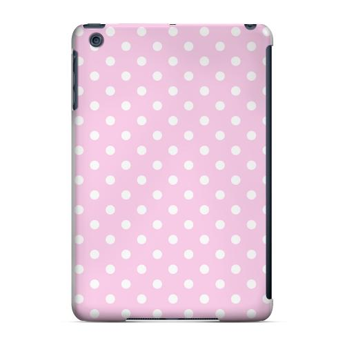 Geeks Designer Line (GDL) Slim Hard Case for Apple iPad Mini - White Dots on Baby Pink