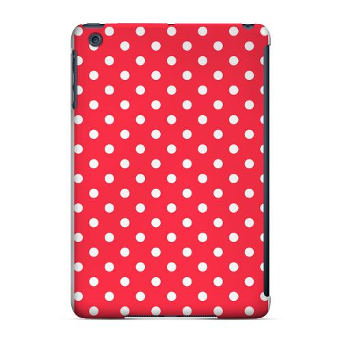 Geeks Designer Line (GDL) Slim Hard Case for Apple iPad Mini - White Dots on Red