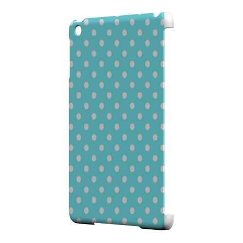 Geeks Designer Line (GDL) Slim Hard Case for Apple iPad Mini - White Dots on Turquoise