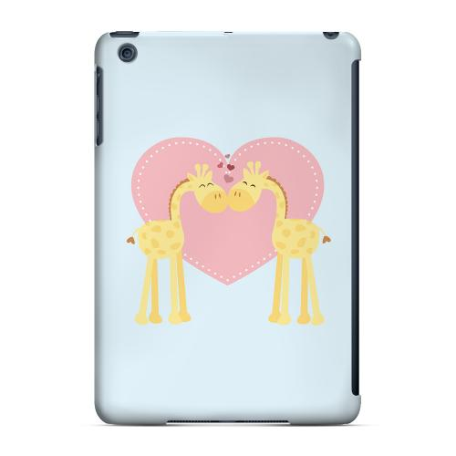 Geeks Designer Line (GDL) Slim Hard Case for Apple iPad Mini - Giraffe Love on Baby Blue
