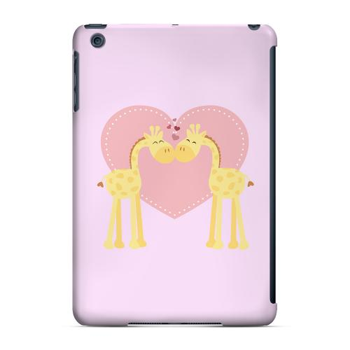 Geeks Designer Line (GDL) Slim Hard Case for Apple iPad Mini - Giraffe Love on Baby Pink