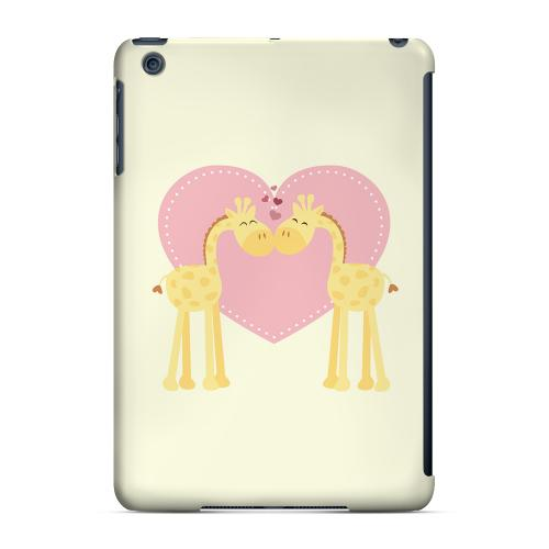 Geeks Designer Line (GDL) Slim Hard Case for Apple iPad Mini - Giraffe Love on Light Yellow