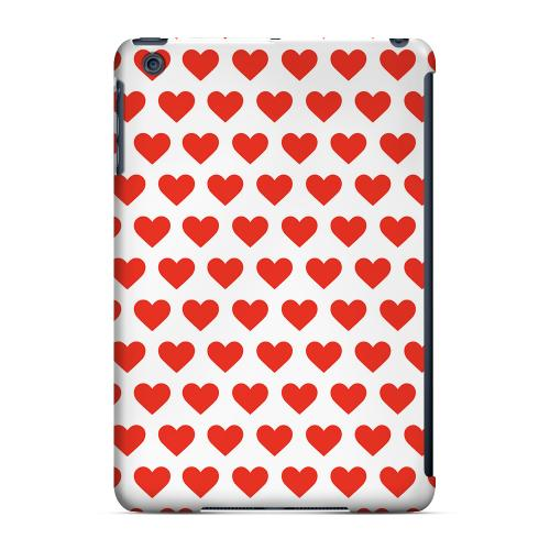 Geeks Designer Line (GDL) Slim Hard Case for Apple iPad Mini - Red Hearts on White