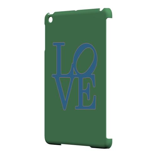 Geeks Designer Line (GDL) Slim Hard Case for Apple iPad Mini - Blue Love on Green