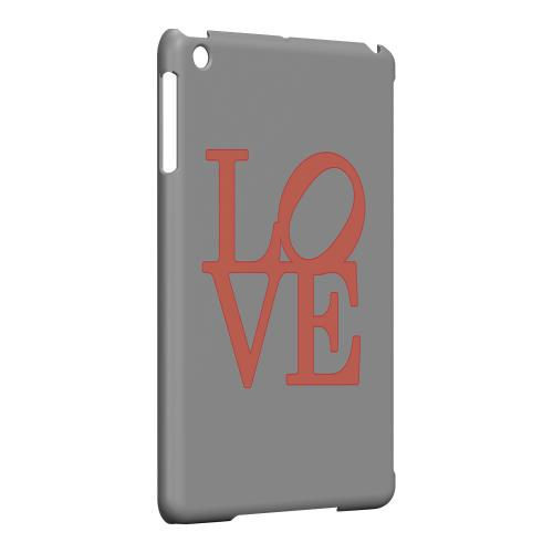 Geeks Designer Line (GDL) Slim Hard Case for Apple iPad Mini - Pink Love on Gray