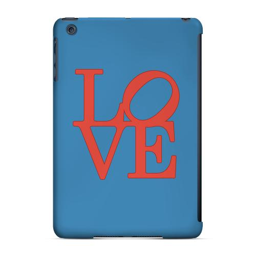 Geeks Designer Line (GDL) Slim Hard Case for Apple iPad Mini - Red Love on Blue