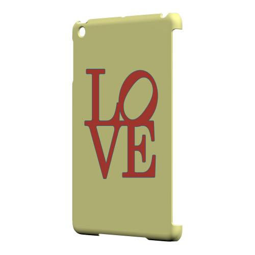 Geeks Designer Line (GDL) Slim Hard Case for Apple iPad Mini - Red Love on Yellow