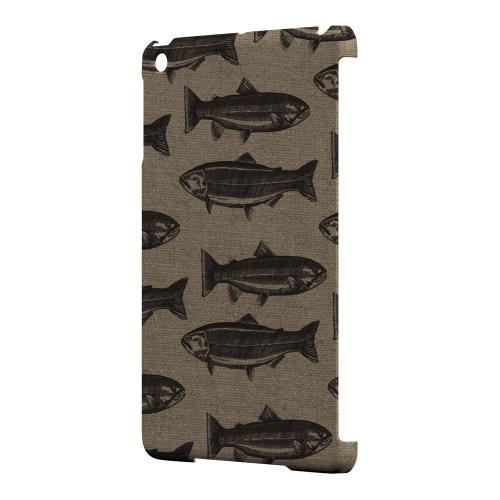 Geeks Designer Line (GDL) Slim Hard Case for Apple iPad Mini - Vintage Salmon & Trout Print