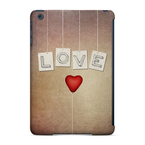 Geeks Designer Line (GDL) Slim Hard Case for Apple iPad Mini - Love & Heart Balloon