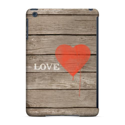 Geeks Designer Line (GDL) Slim Hard Case for Apple iPad Mini - Rustic Love