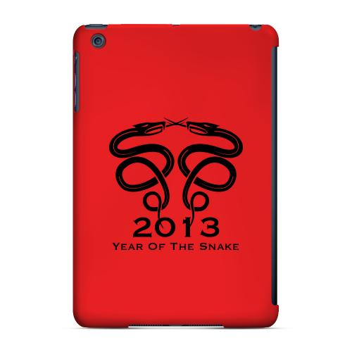 Geeks Designer Line (GDL) Slim Hard Case for Apple iPad Mini - Dual Snake on Red