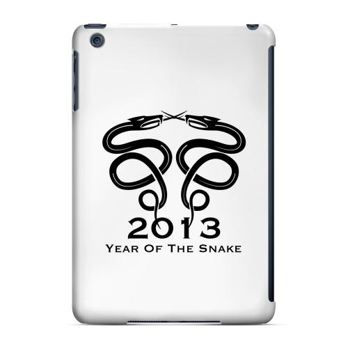 Geeks Designer Line (GDL) Slim Hard Case for Apple iPad Mini - Dual Snake on White