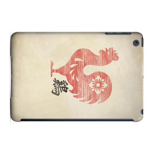 Geeks Designer Line (GDL) Slim Hard Case for Apple iPad Mini - Grunge Rooster