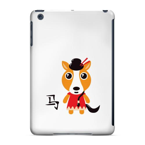 Geeks Designer Line (GDL) Slim Hard Case for Apple iPad Mini - Horse on White