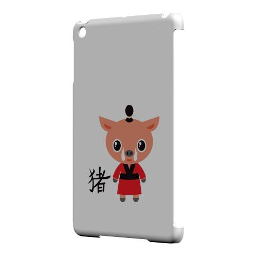 Geeks Designer Line (GDL) Slim Hard Case for Apple iPad Mini - Pig on White