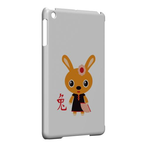 Geeks Designer Line (GDL) Slim Hard Case for Apple iPad Mini - Rabbit on White