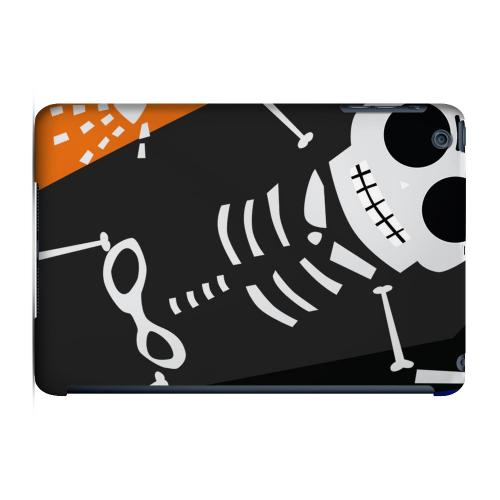 Geeks Designer Line (GDL) Slim Hard Case for Apple iPad Mini - Dancing Skeleton on Black/Orange/Purple