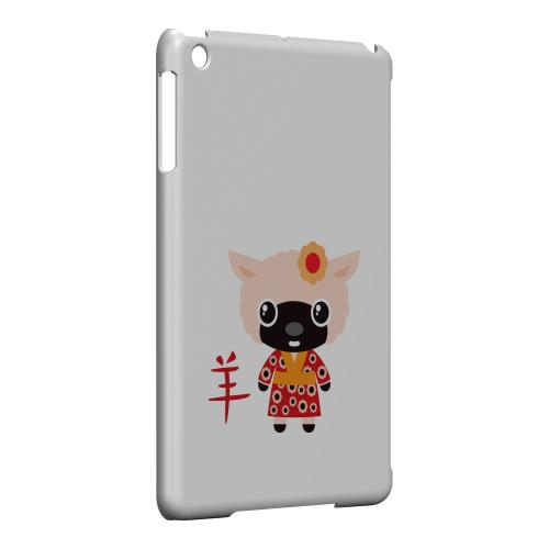 Geeks Designer Line (GDL) Slim Hard Case for Apple iPad Mini - Sheep on White