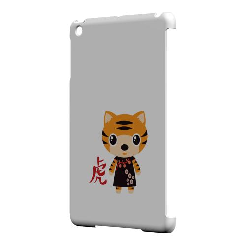 Geeks Designer Line (GDL) Slim Hard Case for Apple iPad Mini - Tiger on White
