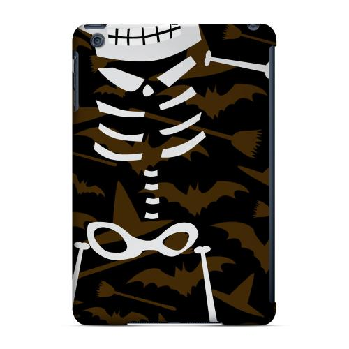 Geeks Designer Line (GDL) Slim Hard Case for Apple iPad Mini - Dancing Skeleton on Witch Hat/Broom/Bat