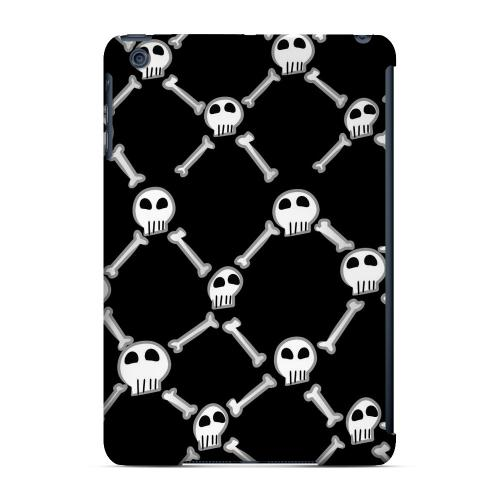 Geeks Designer Line (GDL) Slim Hard Case for Apple iPad Mini - White Skull & Crossbones on Black