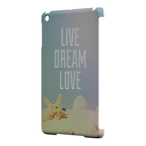 Geeks Designer Line (GDL) Slim Hard Case for Apple iPad Mini - Live Dream Love