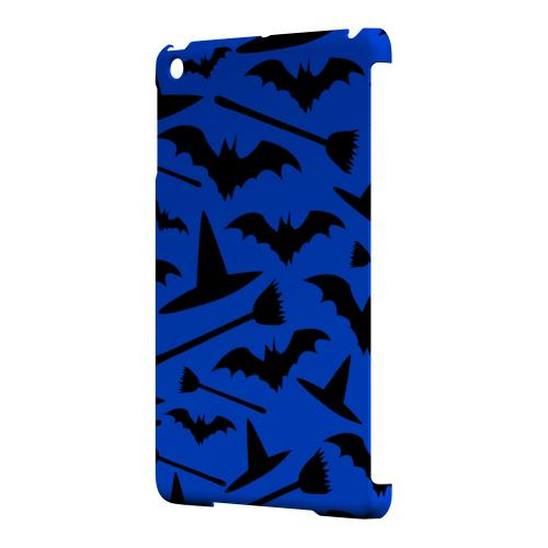 Geeks Designer Line (GDL) Slim Hard Case for Apple iPad Mini - Witch Hat/Broom/Bat on Blue