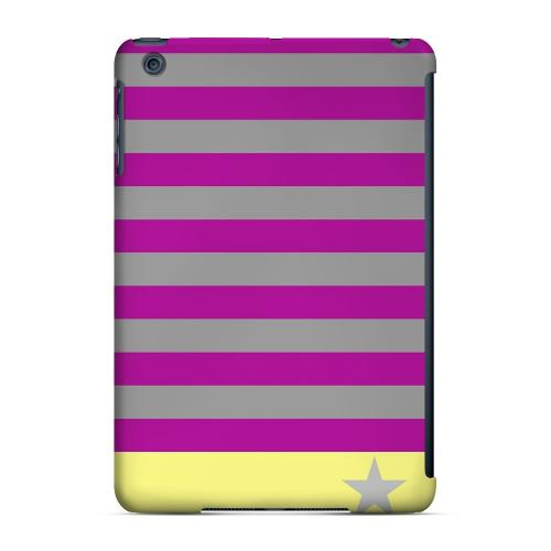 Geeks Designer Line (GDL) Slim Hard Case for Apple iPad Mini - Bars & Stripes Forever on Purple/ Yellow