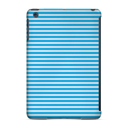 Geeks Designer Line (GDL) Slim Hard Case for Apple iPad Mini - Blue/ White Stripes