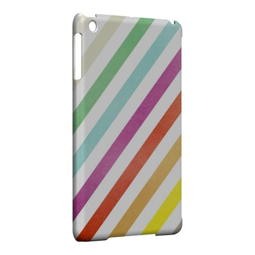 Geeks Designer Line (GDL) Slim Hard Case for Apple iPad Mini - Dirty Diagonal Multi-Color