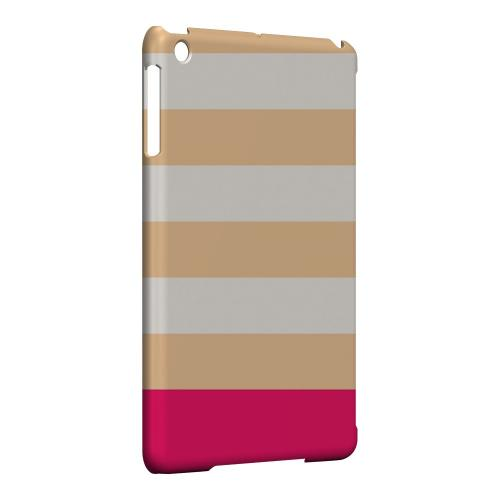 Geeks Designer Line (GDL) Slim Hard Case for Apple iPad Mini - Pink Candy Stripes w/ Pink Bar