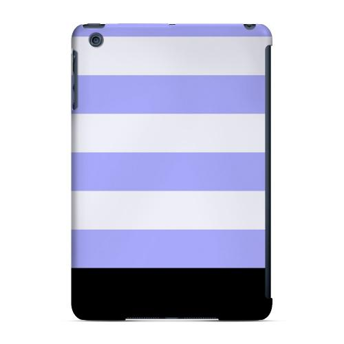 Geeks Designer Line (GDL) Slim Hard Case for Apple iPad Mini - Purple Candy Stripes w/ Black Bar