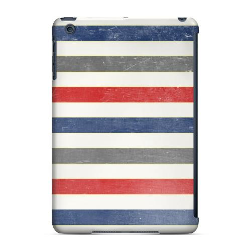 Geeks Designer Line (GDL) Slim Hard Case for Apple iPad Mini - Stripey Blue/ Red