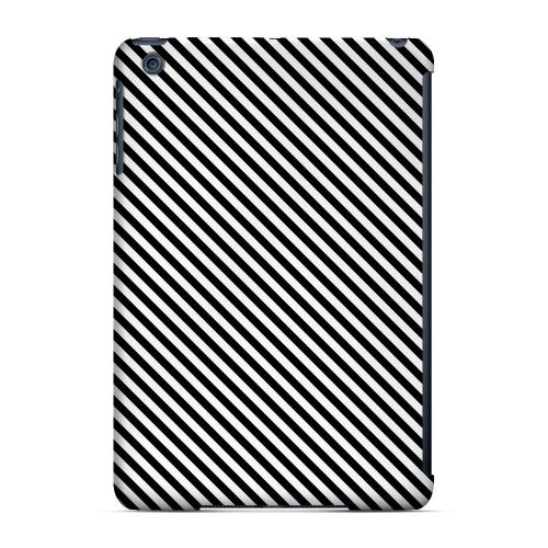 Geeks Designer Line (GDL) Slim Hard Case for Apple iPad Mini - Thin Black/ White Diagonal