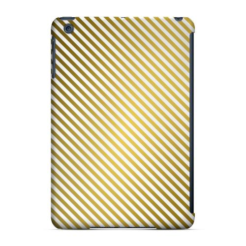 Geeks Designer Line (GDL) Slim Hard Case for Apple iPad Mini - Thin Golden Diagonal