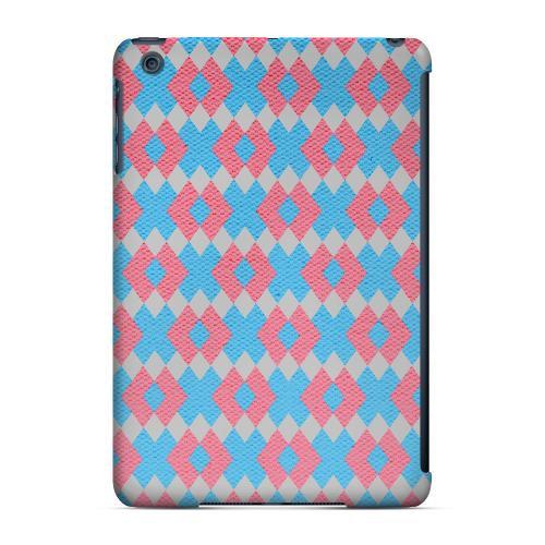 Geeks Designer Line (GDL) Slim Hard Case for Apple iPad Mini - Blue/ Pink Embroidery