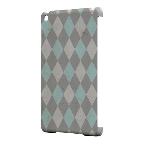 Geeks Designer Line (GDL) Slim Hard Case for Apple iPad Mini - Grunge Pink/ Blue/ Gray Argyle