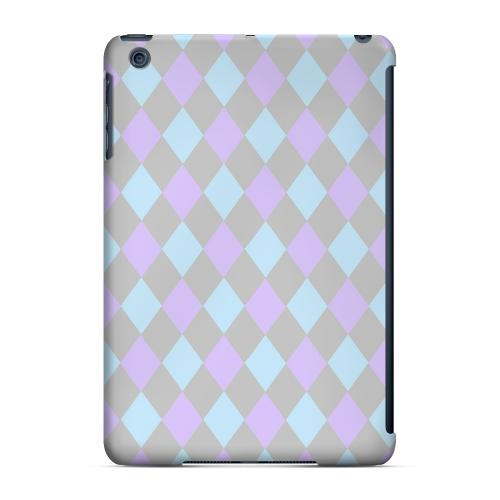 Geeks Designer Line (GDL) Slim Hard Case for Apple iPad Mini - Gray/ Blue/ Purple Argyle