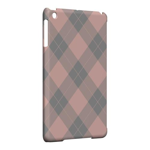 Geeks Designer Line (GDL) Slim Hard Case for Apple iPad Mini - Pink/ Gray Simple Plaid
