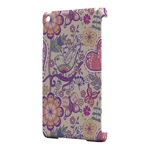 Geeks Designer Line (GDL) Slim Hard Case for Apple iPad Mini - Birds, Hearts & Flowers