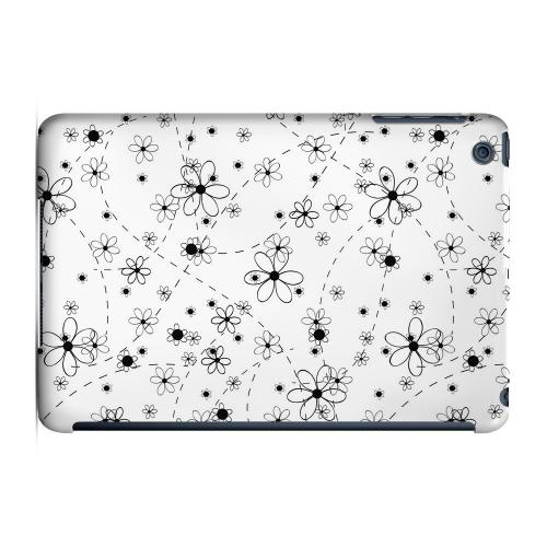 Geeks Designer Line (GDL) Slim Hard Case for Apple iPad Mini - Black/ White Floral