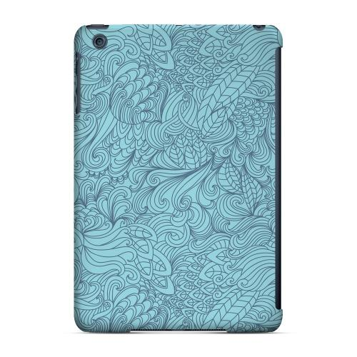Geeks Designer Line (GDL) Slim Hard Case for Apple iPad Mini - Blue Doodle Lines