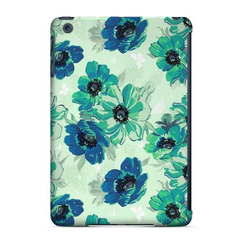 Geeks Designer Line (GDL) Slim Hard Case for Apple iPad Mini - Blue/ Green Floral