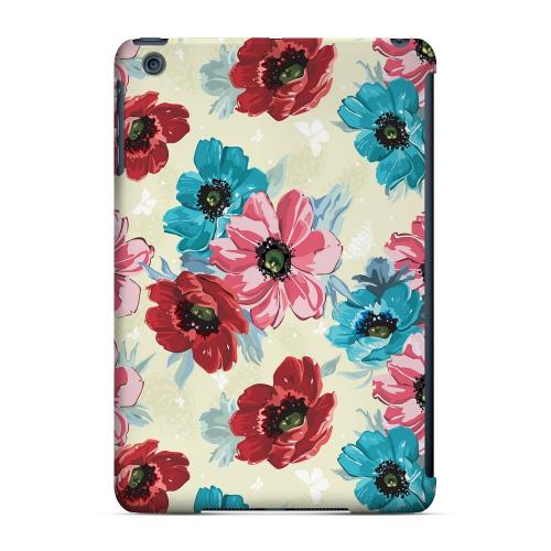 Geeks Designer Line (GDL) Slim Hard Case for Apple iPad Mini - Blue/ Red Floral