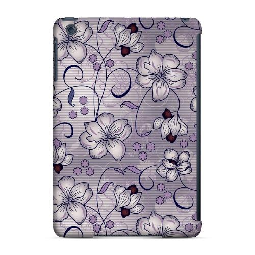 Geeks Designer Line (GDL) Slim Hard Case for Apple iPad Mini - Floral Stripes Hint of Purple
